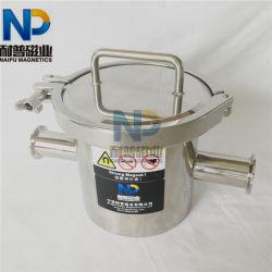 En acier inoxydable filtre sanitaires magnétique permanent avec le collier à libération rapide