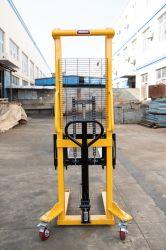 Chariot élévateur à fourche hydraulique manuelle agrafeuse Bac de réception manuelle de levage