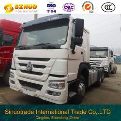 使用されたSinotruk HOWOのトラック6X4 10の車輪秒針のトラクターのトラック371HP 375の頑丈なトラックのトレーラーヘッドトラクターヘッドトラックの優秀な状態