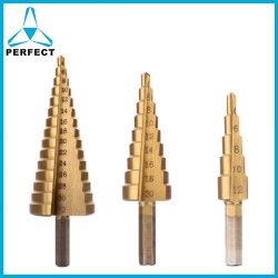 Paso de HSS Brocas de Pagoda cónico para placa de metal de hoja de tubo de perforación