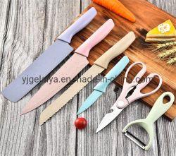 un nuovo insieme del regalo della cucina della Sei-Parte di colore della lama della paglia del frumento ha impostato per articolo da cucina