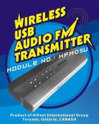 Audio USB inalámbrico, transmisor FM 4 ordenador portátil, PC/MAC DVD MP3 (HFM05U).
