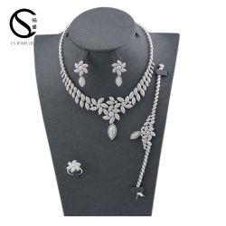 E-7305 CS 여자 결혼 예복 부속품 긴 보석은 펀던트 목걸이 사슬 모조 다이아몬드 목걸이 귀걸이를 신부를 위해 놓이 놓는다