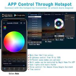 2835 SMD RGB Band 3528 het Flexibele RGB LEIDENE van de Adapter van Wif van het Controlemechanisme van de Diode 24key van het Lint Licht van de Streep