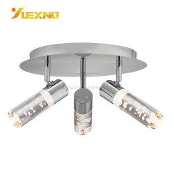 Tour de fer à repasser Salle de bains d'éclairage suspendus au plafond réglable LED Lampe de feux de montage