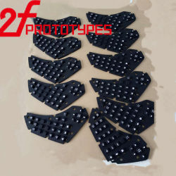 Personalizar Mecanizado CNC de piezas de plástico blanco de alta precisión de plástico de caucho negro girando la perforación de la molienda de mecanizado anodizado Zinc-Plating chorreo de arena
