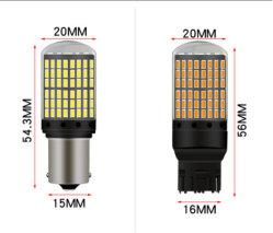 Unjo3014 144SMD CANbus S25 1156 Ba15s P21W LED Bay15D Bau15s PY21W 램프 T20 LED 7440 W21W W21/5W LED 전구 방향 지시등