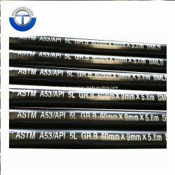 5L Construction transparente Pipe Line pour la norme ASTM A106 Gr. B/API 5L Standard