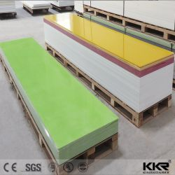 أوراق سطح صلبة بلون الحجر الصناعي الأخضر/الأحمر الملون