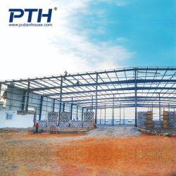 Faible coût sandwich polyuréthane Panneau mural Structure en acier de construction de l'entrepôt