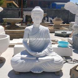 Nuevo Diseño de mármol blanco de tamaño de la vida escultura estatua de Buda en venta