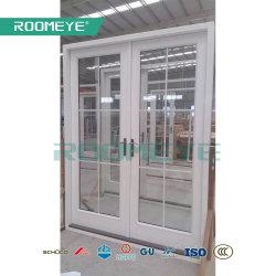 Roomeye hölzerne fehlerfreie Isolierungs-Doppelt-Flügelfenster-Aluminiumtür