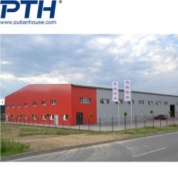 صناعة التصميم العالي ورشة عمل المستودعات المعيارية دفيئة المعادن الخفيفة هيكل هيكل هيكل من الصلب مصنع في مبنى المحافظات السابق التجهيز
