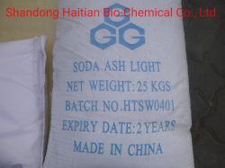 Het Licht van de As van de soda, het Carbonaat van het Natrium, 25kg, Kleine Zak, met Pallet