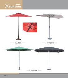 庭の屋外の家具の中庭の片持梁テラスのための2.7m/3mの余暇の市場パラソルの半分の傘