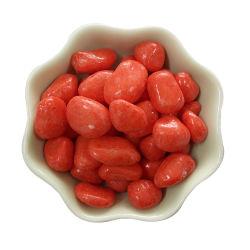Teintes colorées de galets de gravier pierre polie pour aquarium
