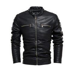Los hombres chaqueta de la personalidad del deporte al aire libre del vestido con chaqueta de cuero PU y el precio