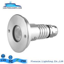 3W 316ss Edelstahl vertieftes IP68 LED Unterwasserpool-Licht
