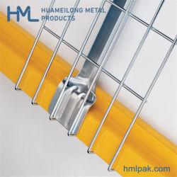 Los brillos de la cascada de tamaño estándar de almacén de acero galvanizado soldado de almacenamiento de metal cubiertas de malla de alambre para paletización