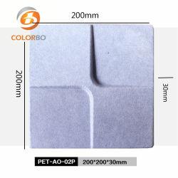 Fibra de poliéster B1 e à prova de fogo Eco-Friendly material de absorção de som 3D Produto para Decoração de parede