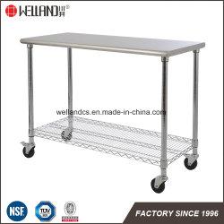 Restaurante Workbench para rack de la Mesa de cocina de acero inoxidable equipos de almacenamiento de Catering de estante de la mesa de trabajo