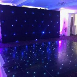 LED branco de dança com borda de alumínio para decoração de casamento