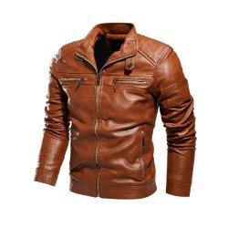 2020 Nouvelle conception en cuir pour hommes veste en cuir de moto Moto Vêtements Veste enduire