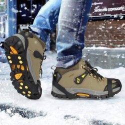 Segurança grossista Neve Antiderrapagem Picos de Escalada no Gelo dominares as garras de gelo da sapata de pranchas Mountain Grampos Tampas de silicone de esqui no Inverno Non-Slip 4 5 8 10 12 dente