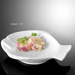 Novo design da placa Fish-Shaped porcelana cerâmica