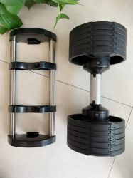 2021 Domoor Flexbell van de Hexuitdraai van het Nieuwe Product de Rubber Vinyl Regelbare voor de oefening van het Huis van de Gymnastiek