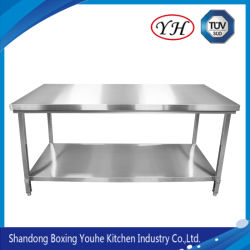 Comercial mesa de trabajo de acero inoxidable y plástico en la Tabla de Cortar para Restaurante