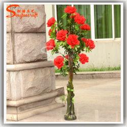인조 식물 조랑나무 실크 꽃 나무 보나사이