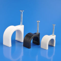 8mm White Color Round Cable Clip