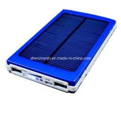 7, 000mAh universel de l'énergie solaire de l'alimentation double USB Chargeur pour téléphone cellulaire avec de grandes capacités couleur bleu (JH-PS053B)