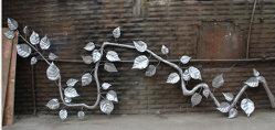 금속 벽 마운트 조각품 예술을 예약했다