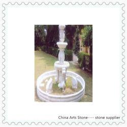 Weißer Marmor mit Tierbrunnen für Garten