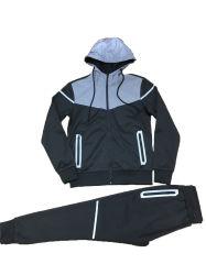남성용 Zipper Hooded TrackSuit 반사 대비 및 히트 씰 포켓