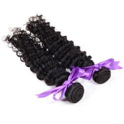 Chute libre de la qualité des Cheveux humains indiens Extenson, profonde de Tissage de cheveux humains Extension d'onde