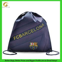 カスタムロゴのドローストリングのフットボールの包装袋、