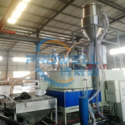 PVC-hars calciumpoeder High Speed Frequency Mixing machine Plastic Granule Particles-blender met automatische invoermachine/kunststof compounding-mixer