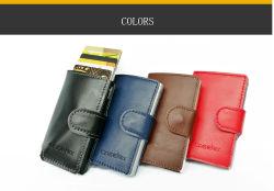 Лучшие цены и передний карман мужчин Портмоне из натуральной кожи с помощью кредитной карты ID случае блокирование RFID