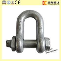 G2150 Type de boulon Électrique en acier galvanisé en acier Forgé D Shackle