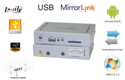 نظام عكس الشاشة من خلال اتصال USB من خلال نظام عكس الشاشة من خلال نظام السيارة Mirror Link Navigation Box عبر الهاتف إلى سوني