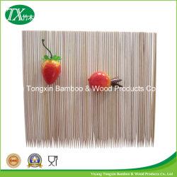 Panelas espetos de bambu e varas de bambu