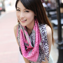 Silk schöner Schal der Digital-Leopard gedruckter Dame-Spring&Autumn