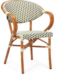 Klassisches Entwurfs-Rattan, das den Paris-Stuhl stapelt Gaststätte-Stuhl speist