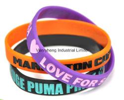 Nueva marca OEM fluorescente personalizadas pulsera de silicona