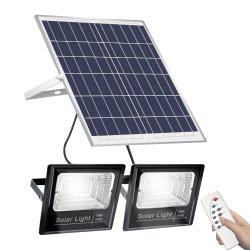 2020 des neuen Entwurfs-wasserdichte IP65 15W 25W 100W Straßen-Pole-Lampen-Fühler-Aluminiumprodukte Flut-Licht-Solarzellen-im Freien Garten-Lampen-Beleuchtung-der Lampen-LED helle