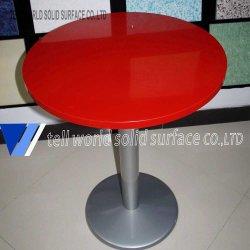 El mármol blanco pequeño juego de mesa de comedor mesa de café