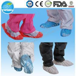 Schuh-Deckel-Gleitschutzmedizinische Bedarfe des nichtgewebten Wegwerfschuh-Deckel-wasserdichte PE/CPE